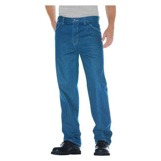Dickies Relaxed Fit Denim Jeans Stonewashed Indigo Blue