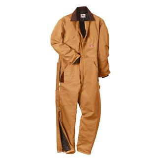 Dickies Premium Insulated Duck Coveralls Brown Duck