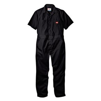 Dickies Short Sleeve Coveralls Black