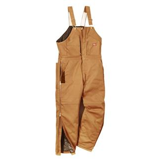 Dickies Premium Insulated Bib Overalls Brown Duck