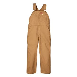 Dickies Bib Overalls Rinsed Brown Duck