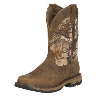 "Ariat 11"" Conquest Pull-On 400G WP Ash Brown / Realtree Xtra"