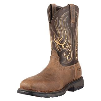 "Ariat 11"" Workhog Mesteno Wide Square Toe CT Earth / Coffee"