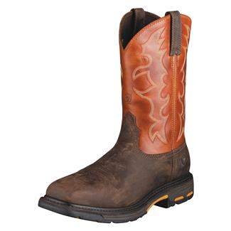 "Ariat 11"" Workhog Wide Square Toe ST Dark Earth / Brick"