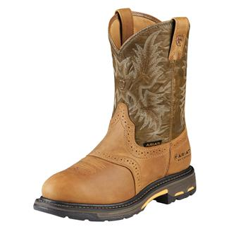 "Ariat 10"" Workhog Pull-On CT WP Aged Bark / Army Green"