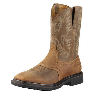 "Ariat 10"" Sierra Wide Square Toe ST Aged Bark"