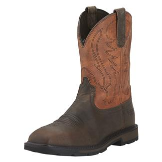 "Ariat 10"" Groundbreaker Wide Square Toe ST Brown / Ember"