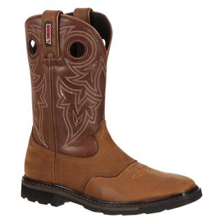 "Rocky 10"" Farmstead Square Toe ST Brown"