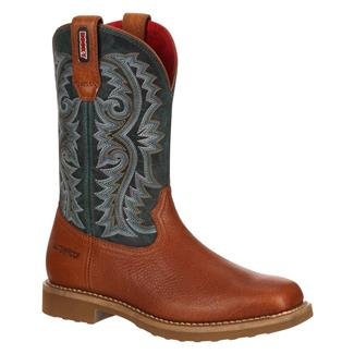 """Rocky 11"""" Barntec Square Toe WP Brown / Teal"""