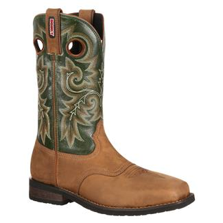 """Rocky 12"""" Trail Bend Square Toe ST Brown / Green"""