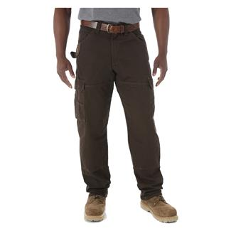 Wrangler Riggs Relaxed Fit Ripstop Ranger Pants Dark Brown