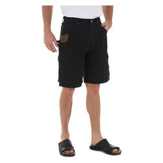 "Wrangler Riggs 10.5"" Relaxed Fit Ripstop Ranger Shorts Black"