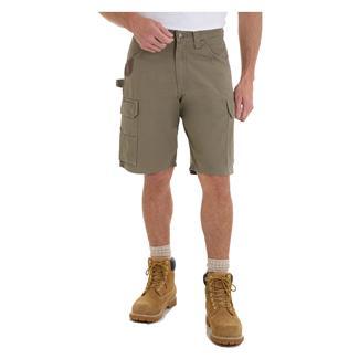 """Wrangler Riggs 10.5"""" Relaxed Fit Ripstop Ranger Shorts Bark"""