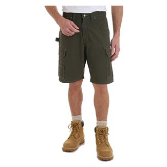 """Wrangler Riggs 10.5"""" Relaxed Fit Ripstop Ranger Shorts Loden"""