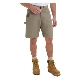 "Wrangler Riggs 10.5"" Relaxed Fit Ripstop Carpenter Shorts Dark Khaki"