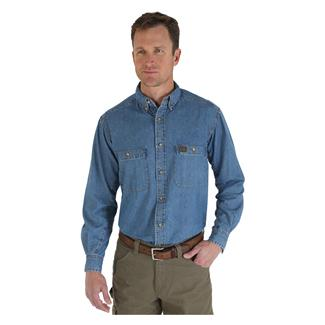 Wrangler Riggs Relaxed Fit Denim Work Shirt Antique