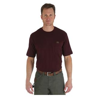 Wrangler Riggs Pocket T-Shirt Burgundy