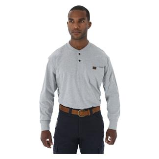 Wrangler Riggs Long Sleeve Pocket Henley Ash Heather
