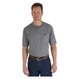Wrangler Riggs Pocket Henley Charcoal Grey