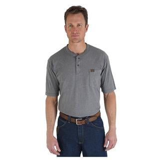 Wrangler Riggs Pocket Henley Charcoal Grey