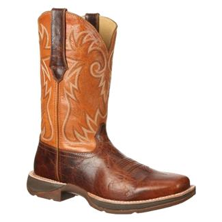 "Durango 12"" Ramped-Up Rebel Square Toe Distressed Brown / Tan"