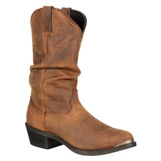 "Durango 12"" Gambler Slouch Crumpled Distressed Tan"