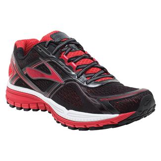 Brooks Ghost 8 Black / High Risk Red / Silver