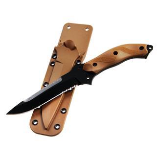 Blackhawk NightEdge Knife Serrated Edge Coyote Tan