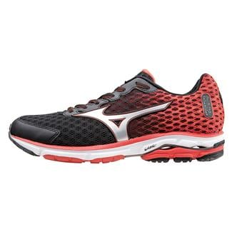 Mizuno Wave Rider 18 Black / Orange.com / Silver