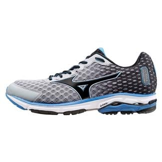 Mizuno Wave Rider 18 Alloy / Black / Electric Blue Lemonade
