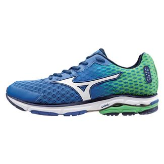 Mizuno Wave Rider 18 Surf the Web / White / Classic Green