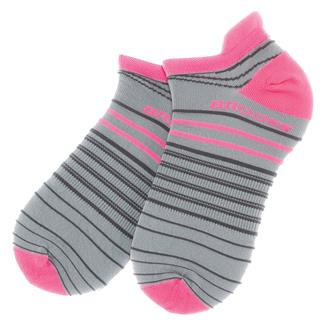 Brooks Radical Lightweight Tab Socks Oxford / Brite Pink