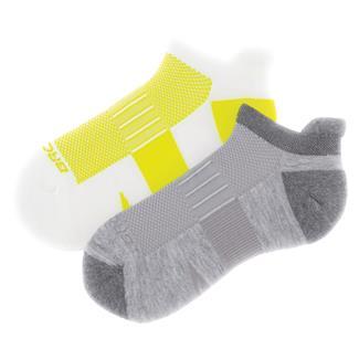 Brooks Ghost Midweight Tab Socks (2 pack) Oxford / Asphalt & White / Nightlife