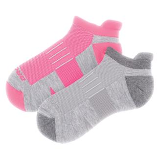 Brooks Ghost Midweight Tab Socks (2 pack) Oxford / Asphalt & Oxford / Brite Pink