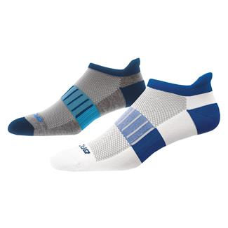 Brooks Ghost Midweight Tab Socks (2 pack) Heather Gray / Navy & White / Marathon