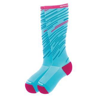 Brooks Fanatic Compression Socks Turquoise / Fuchsia