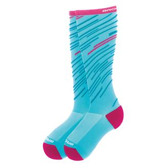Brooks Fanatic Compression Socks Turquoise / Fuchsia