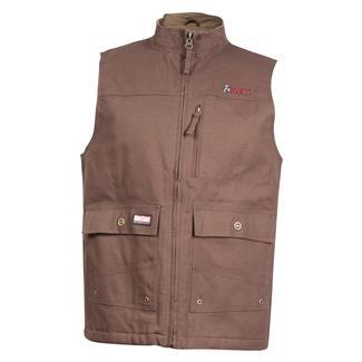 Rocky WorkSmart Canvas Vest Brown