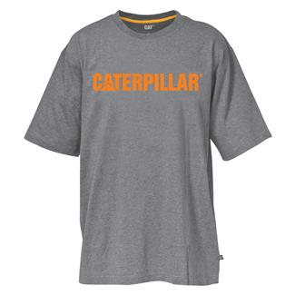 CAT Stand-Out Trademark T-Shirt Dark Heather Gray