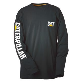 CAT Long Sleeve Trademark Banner T-Shirt Black