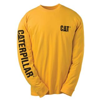CAT Long Sleeve Trademark Banner T-Shirt Yellow