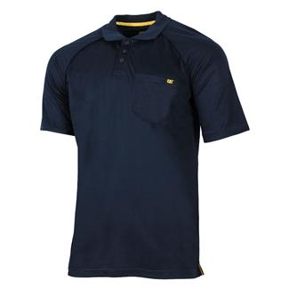 CAT Raglan Performance Pocket Polo Navy