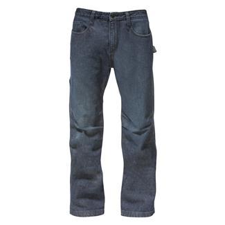 CAT Work Tough Denim Jeans Rinsed Denim