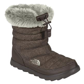 The North Face Thermoball Micro-Baffle Bootie Demitass Brown Textile Print / Demitasse Brown