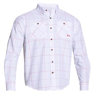 Under Armour HeatGear Long Sleeve Chesapeake Shirt White / Red (Harrison Plaid)