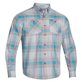 Under Armour HeatGear Long Sleeve Chesapeake Shirt White / Deceit (Hilton Plaid)