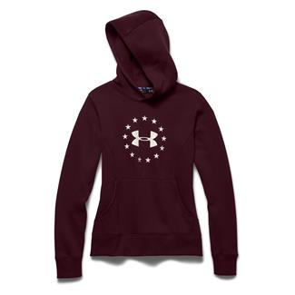Under Armour ColdGear Freedom Hoodie Ox Blood / Ivory
