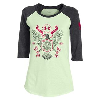 Under Armour HeatGear Freedom Eagle 3/4 T-Shirt Sugar Mint / Black / Fury