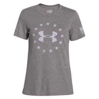 Under Armour HeatGear Freedom T-Shirt Carbon Heather / Cloud Gray