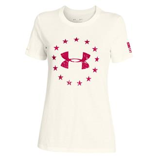 Under Armour HeatGear Freedom T-Shirt Ivory / Fury